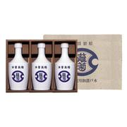 米菱醤油【雛菊】 雛菊醤油500ml×3本 白い陶器風容器入り
